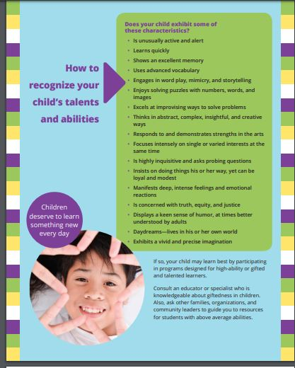 Does your child exhibit some of these characteristics? by NAGC